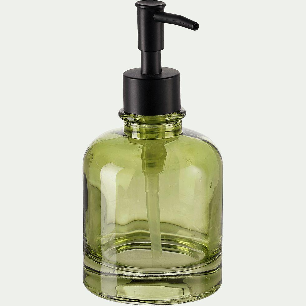 Distributeur de savon en verre - vert H17cm-OSCO
