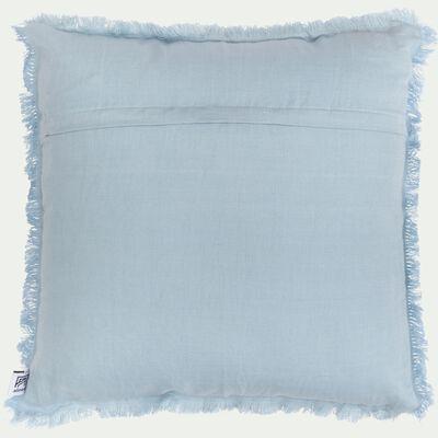 Coussin en lin lavé - bleu 40x40cm-VENICE