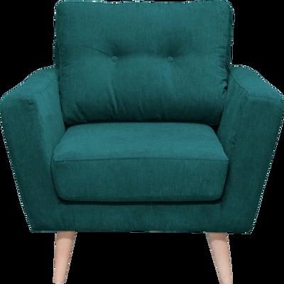 Fauteuil en tissu vert-ICONE