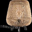 Lampe à poser en bambou naturel D42xH53cm-NIMES