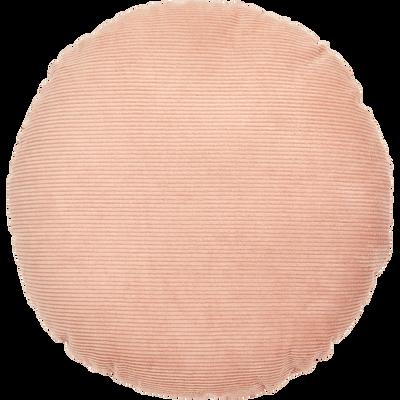 Coussin en coton rose argile D40cm-ALASSIO