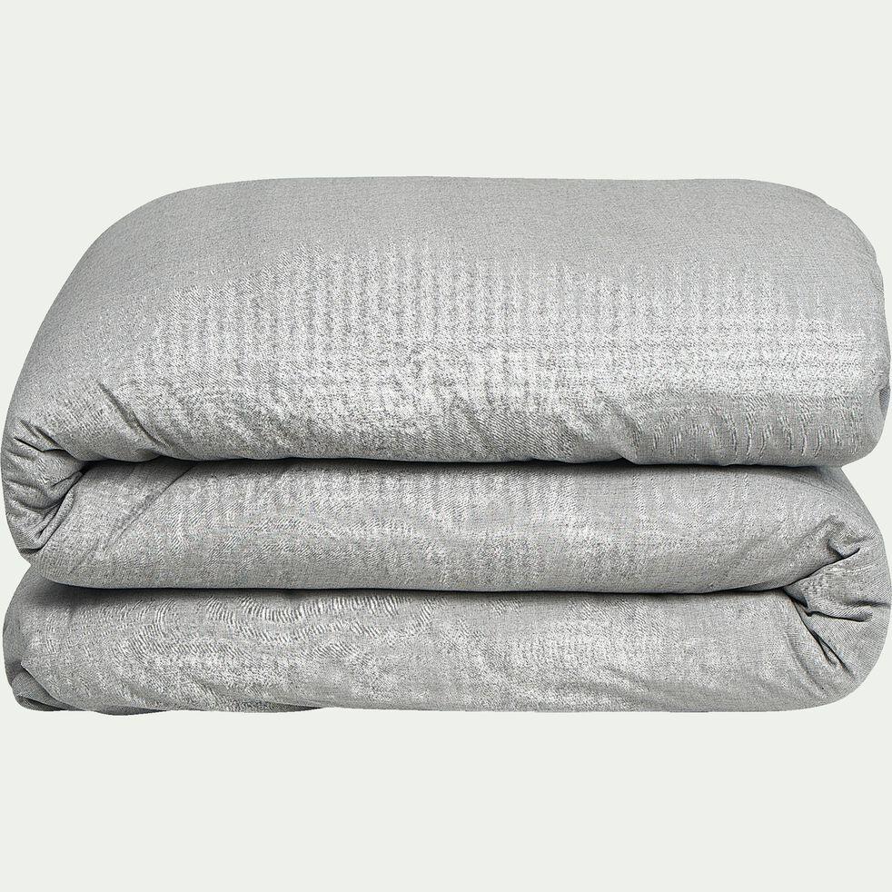 Housse de couette en coton chambray - gris 240x220cm-CHAMBRAY