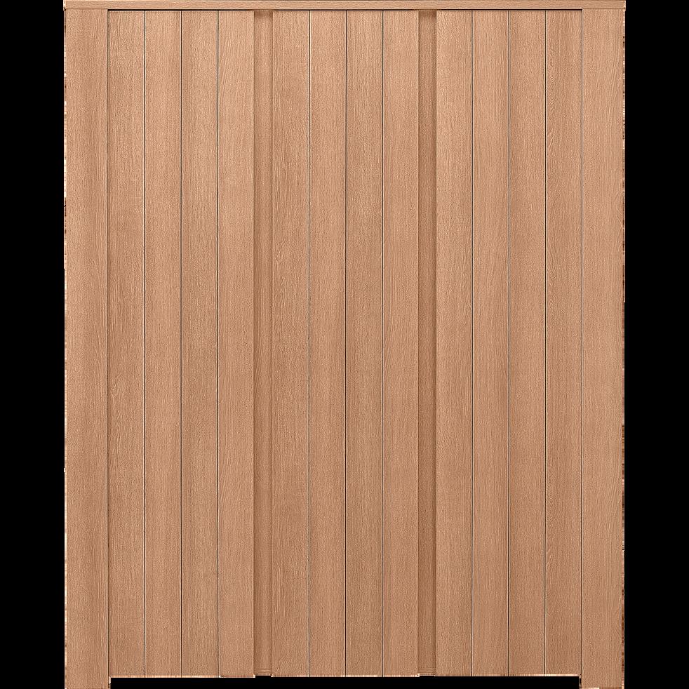 Armoire effet chêne 3 portes battantes-NATURELA