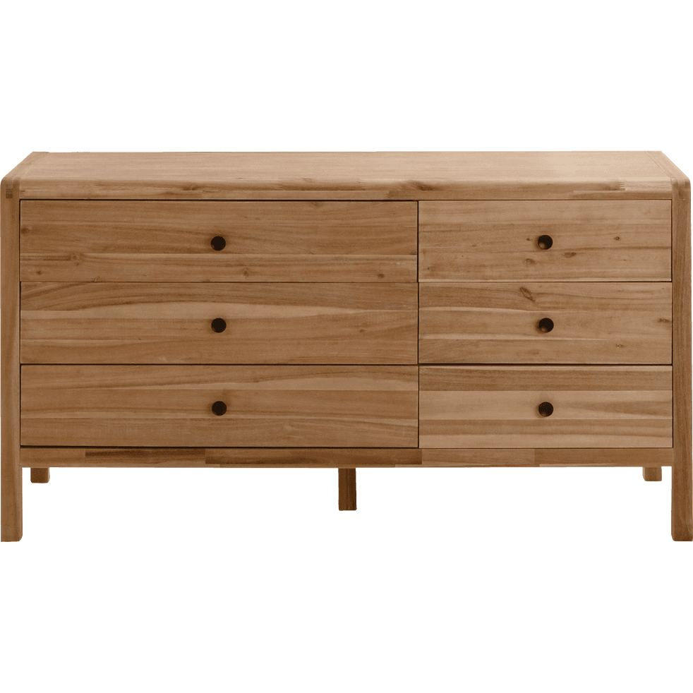Commode 6 tiroirs en acacia - GAIA - commodes - alinea