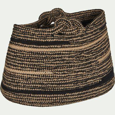 Panier en corde de jute et coton L40xl27xH25cm-Naïla