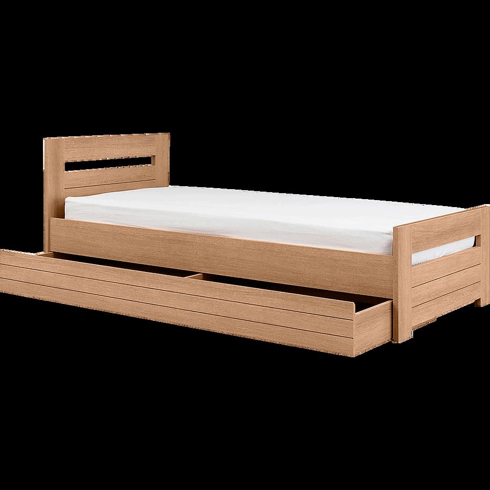 lit 1 place couleur naturelle 90x200 cm naturela lits enfant alinea. Black Bedroom Furniture Sets. Home Design Ideas