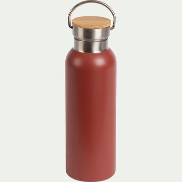 Bouteille en inox rouge cade 0,5L-Coucourdo