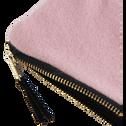 Trousse en velours rose-SAKURA