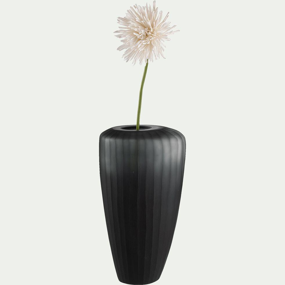 Vase asymétrique en verre - noir H34cm-JOSIP