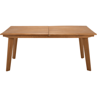 Table de jardin extensible en acacia (6 à 10 places)-DEGABY