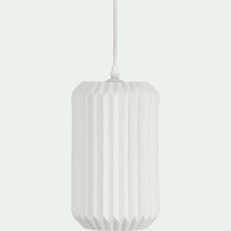 Suspension en porcelaine D15xH27,50cm - Blanc-HOSSEGOR