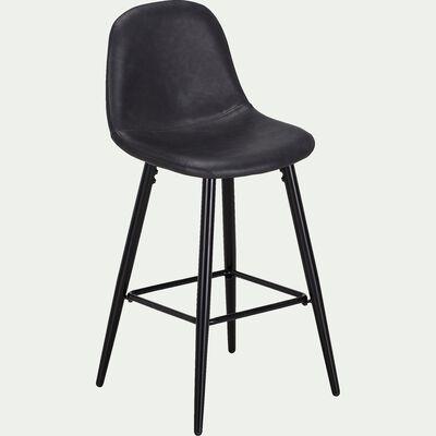 Chaise plan de travail H66cm - noir-LOANA