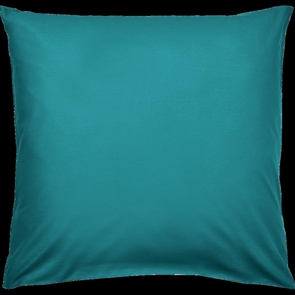 Lot de 2 taies d'oreiller en coton Bleu niolon 65x65cm-CALANQUES
