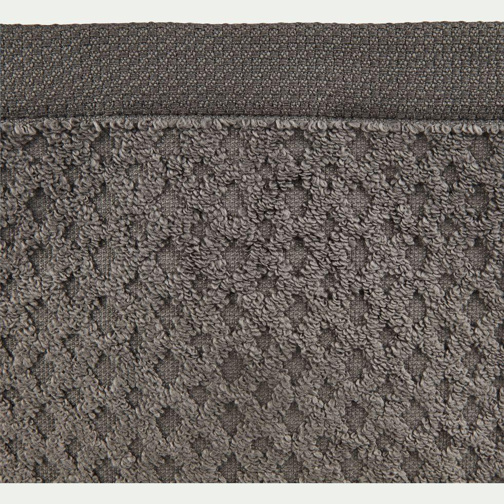 Linge de toilette bouclette en coton- gris restanque-ETEL