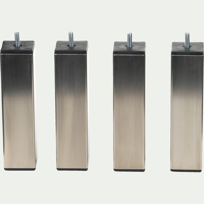 Pieds de sommier gris inox H20 cm - jeu de 4-Tonga