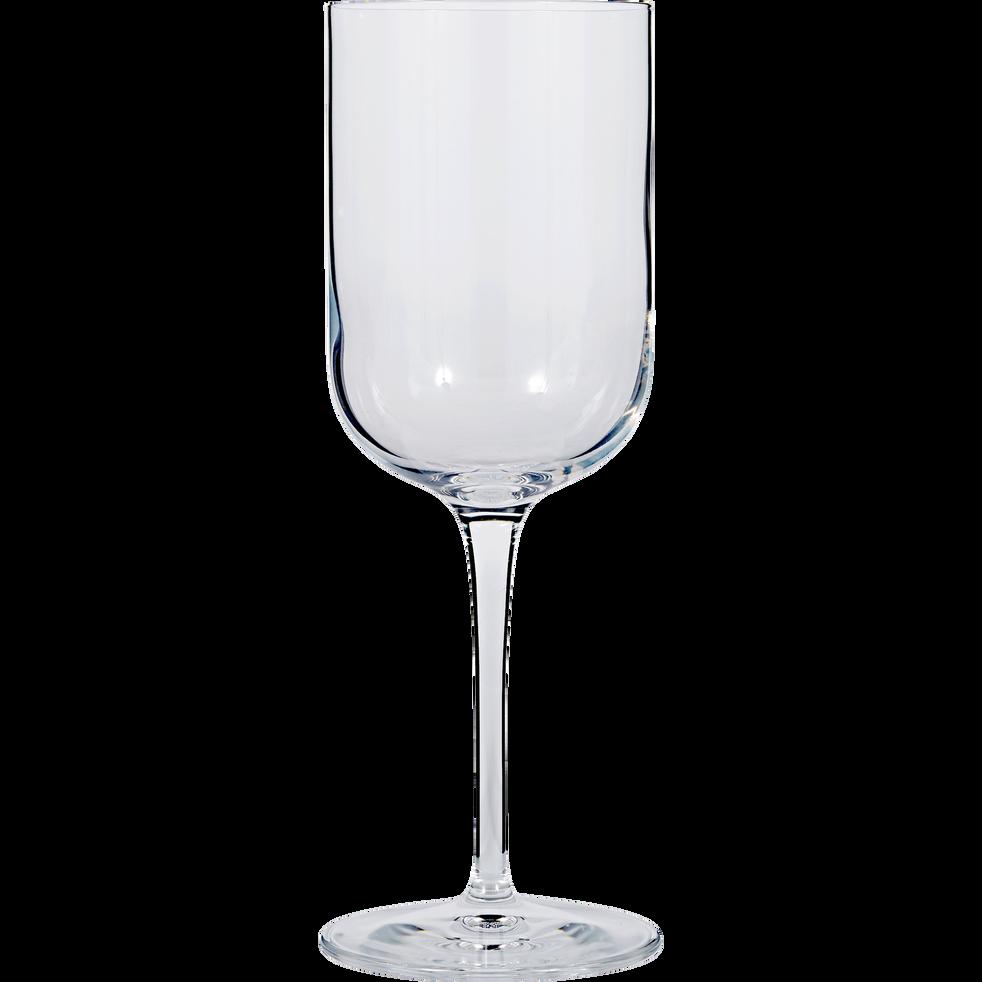 Verre à pied à eau transparent en verre 40cl-SUBLIME