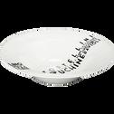 Assiette à pâtes en porcelaine décorée blanc et noir D31cm-FARFAL