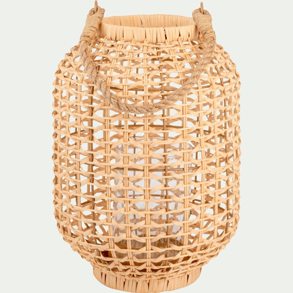 Lanterne en rotin naturel D24xH33cm-Navoï