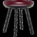 Bout de canapé en acier rouge sumac-SOUFIO