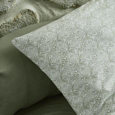 Lot de 2 taies d'oreiller en coton motif Amande - gris borie 50x70cm-CIGALO