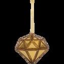 Boule de Noël en plastique doré D8,8cm-MISSOUR