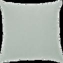 Coussin en coton vert olivier 40x40cm-CALANQUES