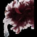 Guirlande de noël en plume rouge L180cm-PELLEAS