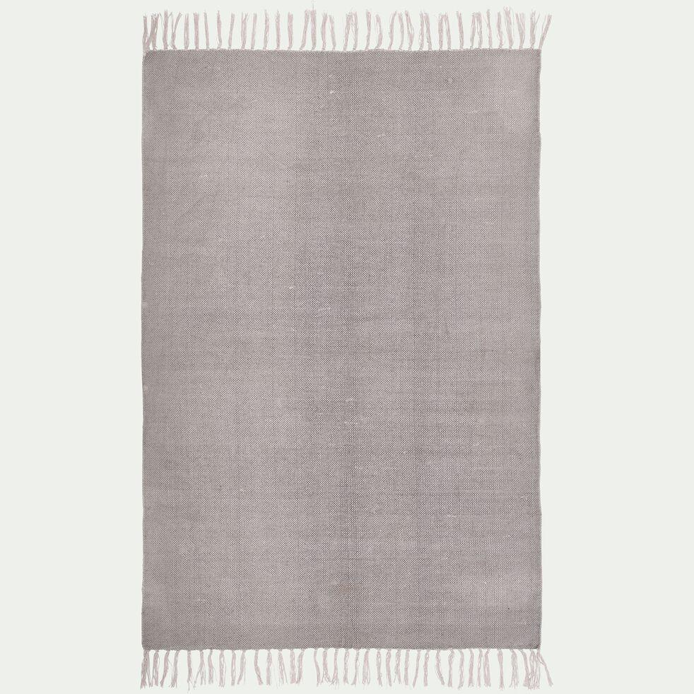 Tapis en coton gris borie 100x150cm-PALMA