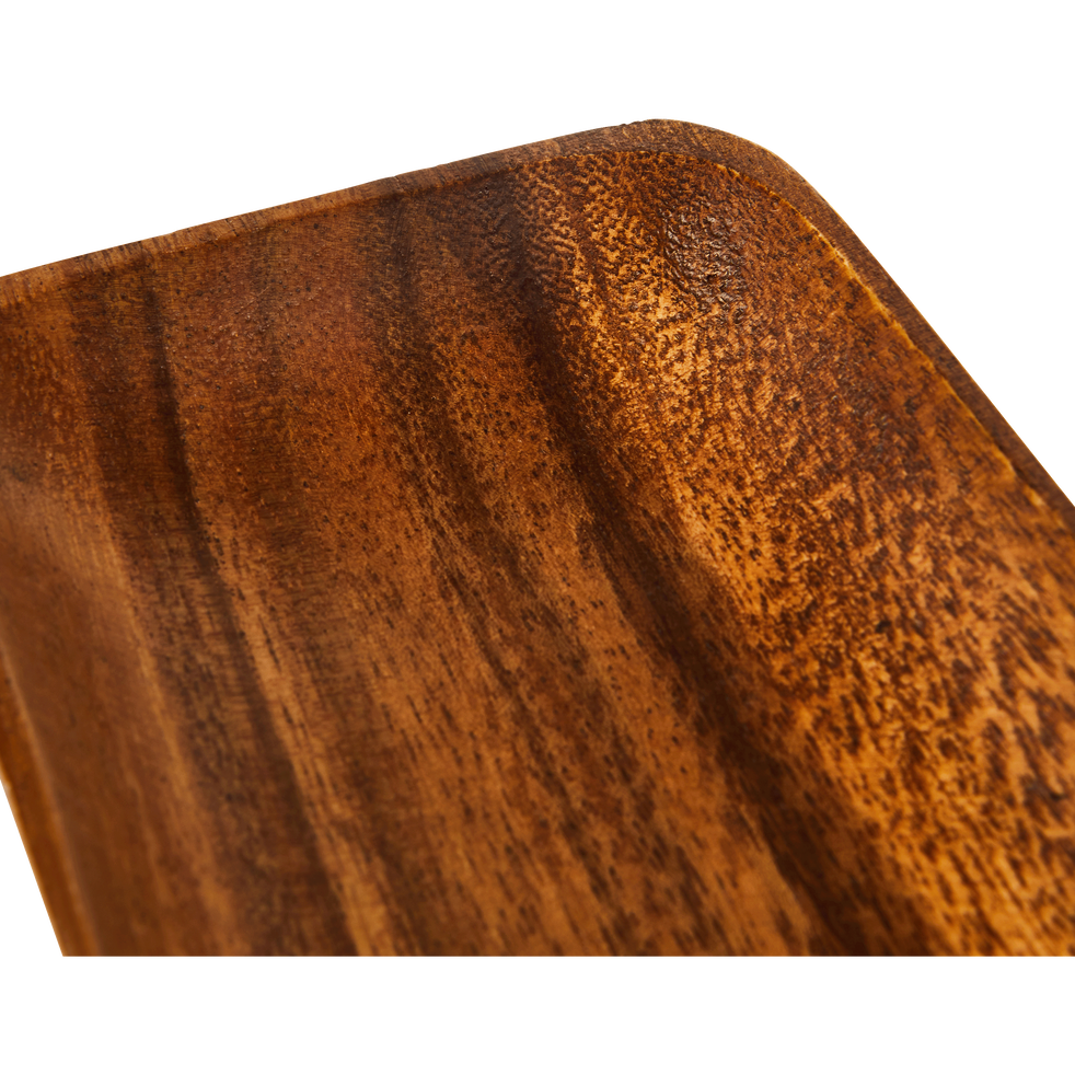 Coupelle rectangulaire en acacia L20cm-ESTEVE