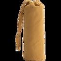 Drap housse en coton lavé beige nèfle 90x200 cm-CALANQUES