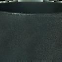 Cache-pot en céramique effet charbon D14,5xH14cm-Ouarzazate