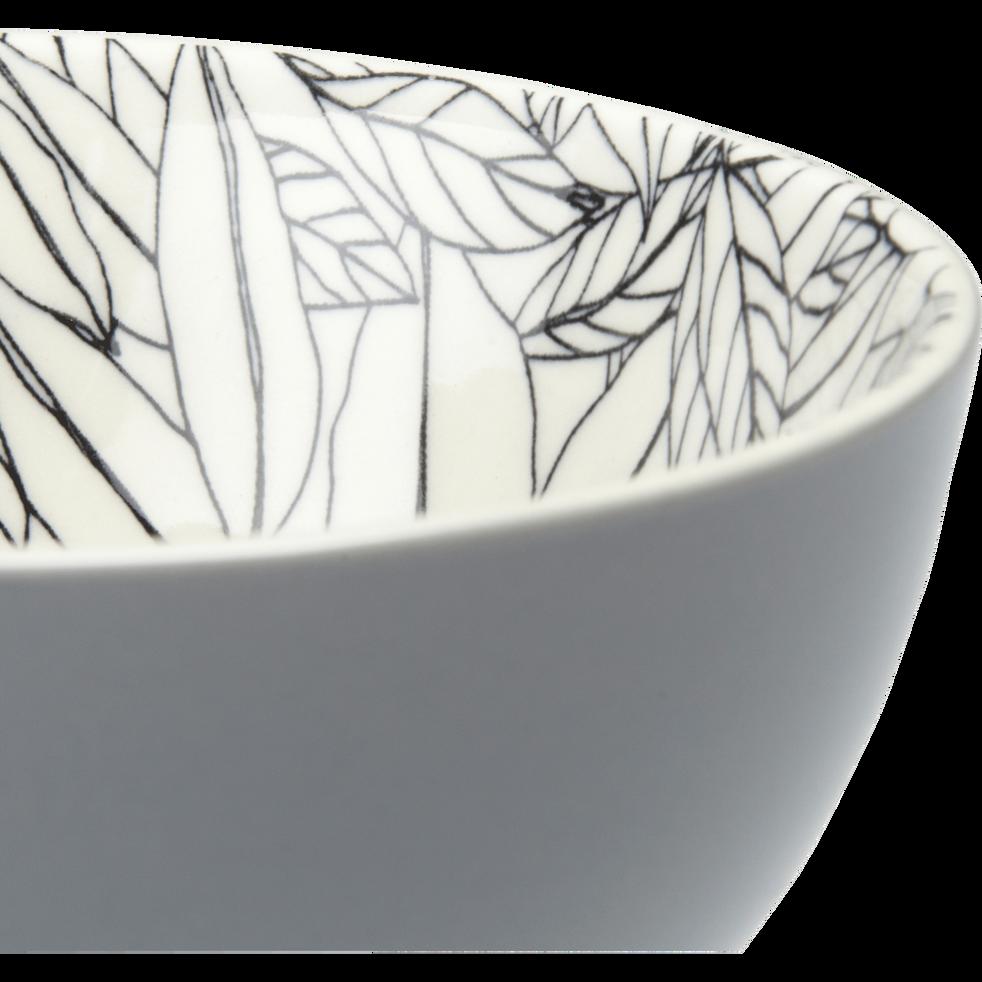 Coupelle en porcelaine gris restanque motifs laurier D11cm-AIX