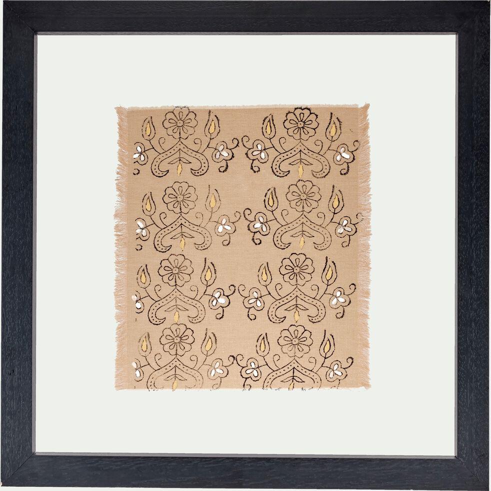 Magasin De Tissus Salon De Provence verone - tissu encadré 68x68cm