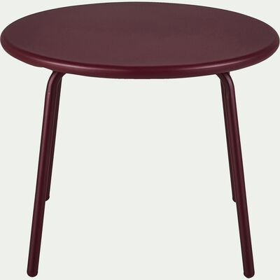 Table basse de jardin en acier - rouge sumac-LILAS