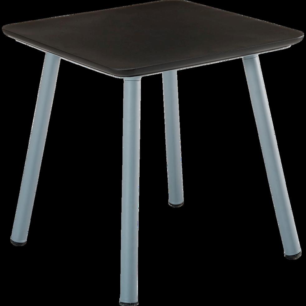 Table de jardin grise et noire en résine (2 à 4 places)-SOLEA
