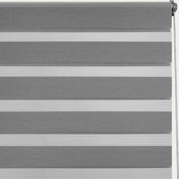 Store enrouleur tamisant gris anthracite92x190cm-JOUR-NUIT