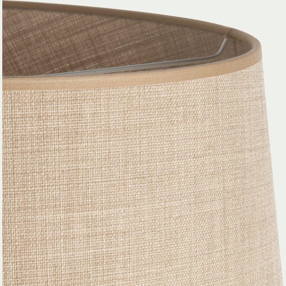 Abat-jour en lin coloris écru d45cm-MOKUZAI