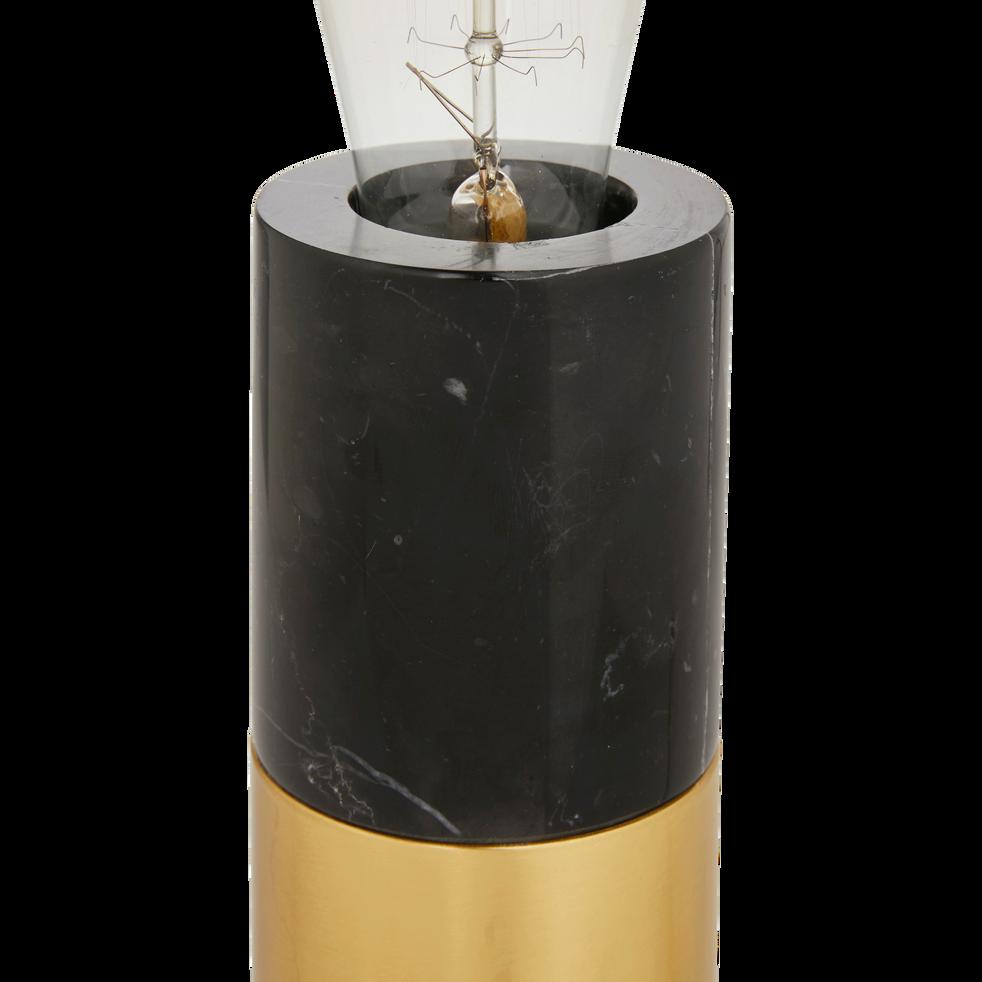 Lampe à poser en marbre noir H18xD7cm-EMMA
