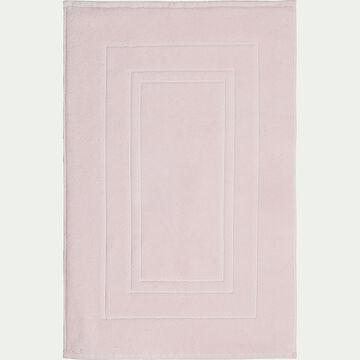 Tapis de bain en coton peigné - rose simos 50x80cm-AZUR