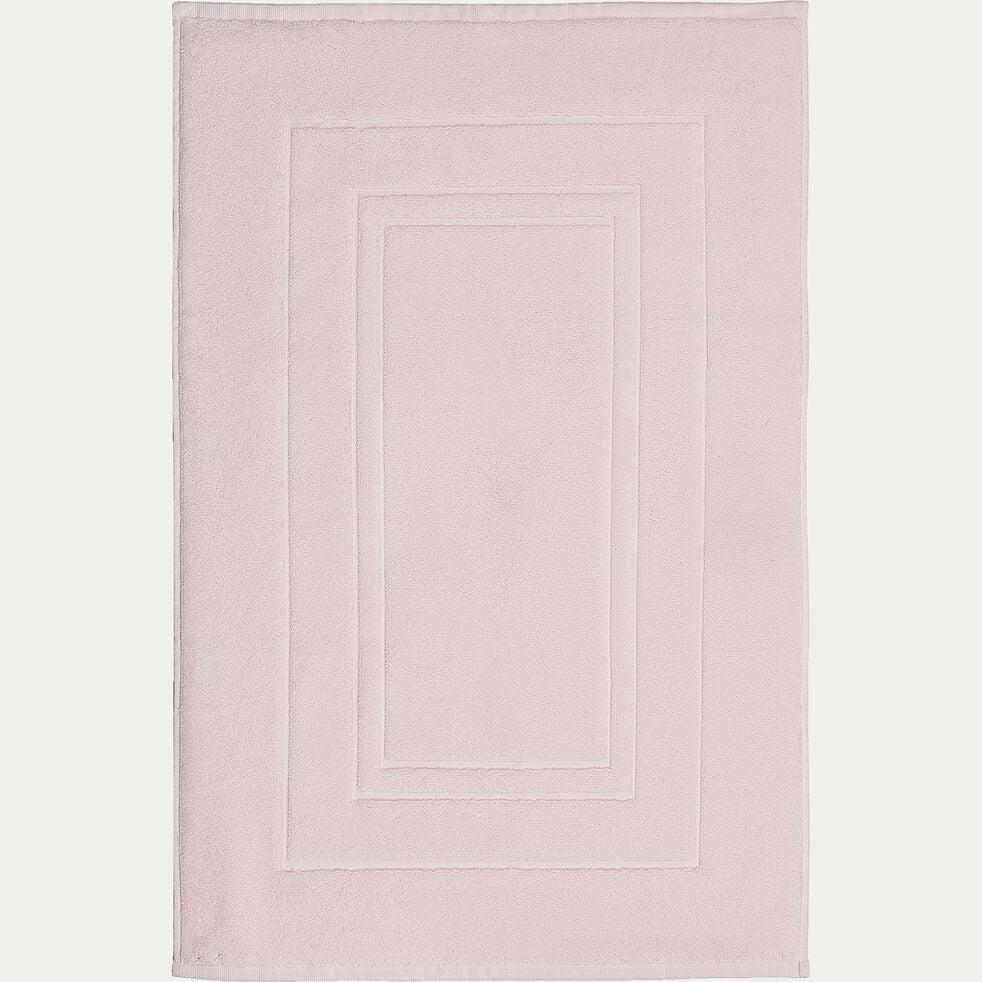 Tapis de bain en coton - rose simos 50x80cm-AZUR