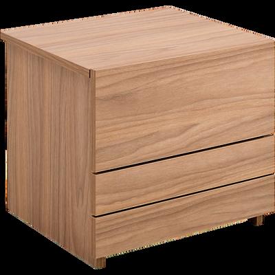 Table de chevet finition bois vieilli 2 tiroirs-LUZ