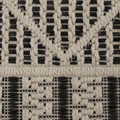 Tapis extérieur et intérieur beige et noir 160x230cm-JERSEY
