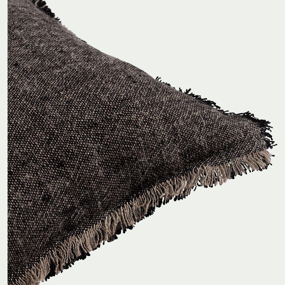 Coussin en lin chambray - noir 30x50cm-MALLAWI