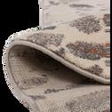 Tapis à poils courts blanc à motifs 120x170cm-TERRAZZO