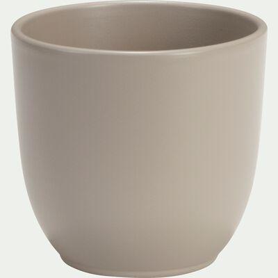 Cache-pot taupe mat en céramique (plusieurs tailles)-TUSCA
