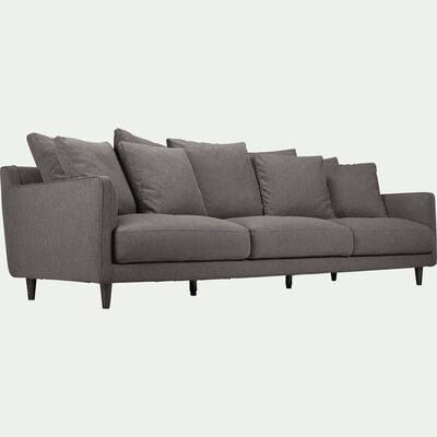 Canapé 6 places fixe en tissu - gris borie-LENITA