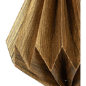 Suspension diamant en papier doré H12cm-TALIM