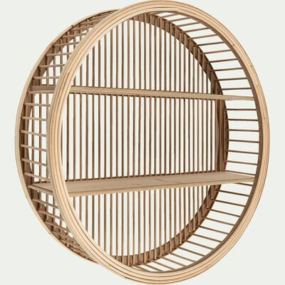 Étagère déco en bois de cèdre -  D60xH15cm naturel-JINAH