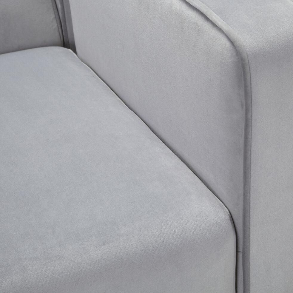 Fauteuil en tissu gris borie-OSCO