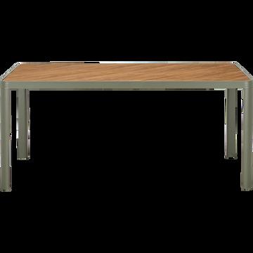 Table de jardin en aluminium - vert cèdre - (4 à 6 places)-ALEP